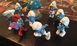 The smurfs in a great condition. Six smurfs. Pet smoke free home. Plz see my other ads for more kids items. Serious inquiries only. 20$ all FIRM