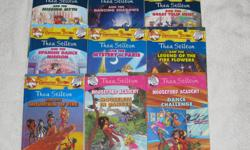 These JUNIOR Chapterbooks are in BRANDNEW condition, unless noted otherwise for $4.00/each THEA STILTON (Appeals to 2nd - 4th Graders) #2 ... the Mountain of Fire #5 ... the Mystery in Paris #14 ... the Dancing Shadows #15 ...the Legend of the Fire