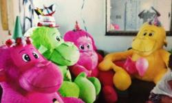 Oversized, well behaved stuffed monkeys need a new home. We were conned into giving them a home while strolling the stampede midway this past summer. Choose from pink, green, or yellow. Heck! Don't play favorites, take one of each! Priced at $50 per