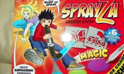 This is a blow art kit ...how it works is you blow into the special makers .Comes with all shown below ...never used .