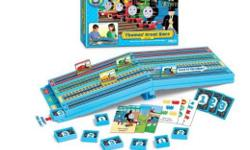 Thomas and Friends Great Race Game. Thomas has challenged James, Molly and Percy for Great Race. Learn your numbers as you earn coal to power your engine up the hill and down the finish line. Contents: Racing hill, 24 question cards, 30 coal blocks. Ages
