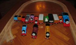 We have some Thomas diecast magnetic trains and some wooden track for sale.   Trains James with tender Billy Thomas with tender Annie Clarabel Hector Murdock with tender Denis Rosie Arthur Alfie   Also willing to trade/swap for Wii items such as: - extra