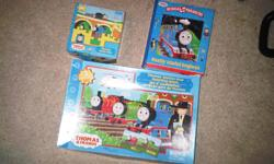 Thomas the Train Puzzle $2 obo Thomas the train Musical Treasury Really Useful Engine book $2 obo Thomas' Station Stop Matching Game $2 obo