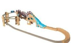 A Thomas the Train Track Master Waterfall track with Multiple Battery Operated Trains (Percy, Thomas, Bell & Henry).
