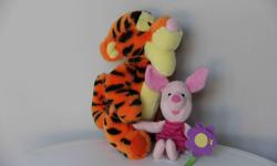 """Plush Tigger - 10"""" tall, Piglet - 7.5"""" in sitting position Like new condition."""