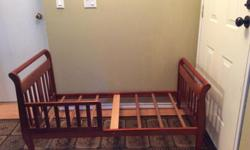 We have a toddler bed for sale. We are not using it any more. If you are interested please email or call. Item is in good condition.