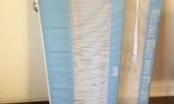 Good condition double bed rails. Brand name Summer. Fits single, double, twin, queen beds. Colour light blue. Good for a toddler recently moving into a big kid bed.