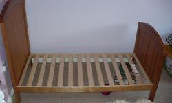 """smoke free and pet free family and very clean. This is a """"WESTBURY COTBED"""" and we have all the hardware and the manual for the set up guide- this bed is convertible into a crib or toddler style bed"""