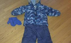 Toddler boys full snow suit, size 18 months. Barely worn, in excellent condition. Includes snow pants, jacket, and mittens. Only $10! Pick up only, from Lower Sackville. Comes from a smoke free home! Check out my other items! This ad was posted with the