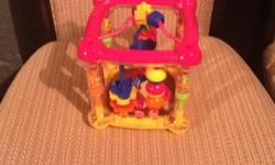 """Toddler Toy. Excellent Condition. Looks New. Great for ages 0 to 18 months. Colorful parts twist,turn, slide and move. Also has mirrors. Apx. Size 8"""" cube. From a smoke free home.This ad will be removed once item is sold. Please look at my other ads. This"""