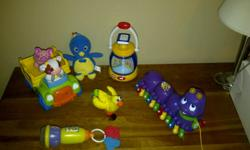 $20 for all the toys in the photos attached to this ad!!   OR MAKE ME AN OFFER   * note * purple caterpillar is sold