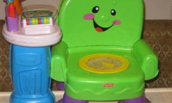 Toddler toys chair works great battery operated  $15.00 , Dora ride on in good cond 15.00& doll house with some access with it tub ,chair etc 10.00!