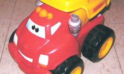 Chuck, Sounds Truck, Car Flashlight, 4 Pails, Child?s Cabinet, Trike, Toy Chair   Chuck the Talking Truck: 6?H x 9?L.  Chuck ?dances? & talks!  Includes new batteries.  Very good condition.  $15 firm (retails new for $45+ tax)   Sounds Truck:  10?L x 3?H.