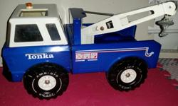- the blue tow truck is in near mint condition. the black and beige jeep has some surface rust. comes with the back rack and jack for changing the wheels (all wheels come off easily). the small jeep renegade has some surface rust also. the plastic topper