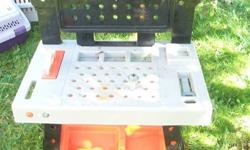 work tool bench and 25 extra Fisher price  tools and  tool box .  call 604 858 6955