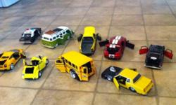 """5"""" die cast asorted automobiles. $50 for all 9 of them or will sell separately. This ad was posted with the Kijiji Classifieds app."""