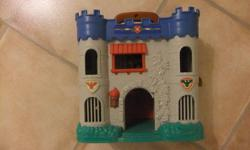 Toy Castle.  Opens and closes with latch and has handle for child to carry around.   Asking $4.00