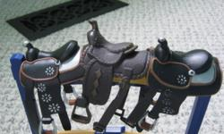 I am selling these toy horse saddles. They are in used condition and some have broken do- up buckles. Otherwise they are in a good condition. The saddles will also come with one teal toy horse saddle blanket that fits the saddle. The saddles are sized for