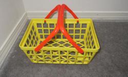 Shopping basket - $2 6 beach/bath toys, new - $2