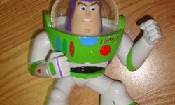 I have a Toy Story Buzz Lightyear Electric Toy for sale! This is in excellent condition and would look great in your child's room or to give as a gift. Comes from a non-smoking household. Do not miss out on this excellent opportunity to get this for a