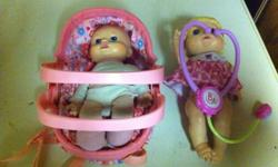 Baby alive dolls Doll with carrier, $3 Doll with stethoscope $3 Fur real pets monkey $3 This ad was posted with the Kijiji Classifieds app.