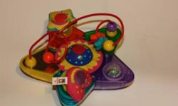 I've cleaned out my son's gear and have lots of learning toys that will make another child happy. There are many great items like stackable and dexterity toys, as well as toys by Fisher Price (piano), Manhattan Toy (stimulation toy), Melissa & Dog (pull