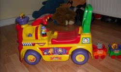 I am selling toddler toys. I would like another little one to learn to walk with this wonderful train Ride/Walker Carnival Toy. It creates a lot of music and very enjoyable to play and learn! In addition, Noah's Ark and A Tom Tom set for infant.