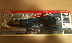 Hornby East Coast Express train set. $175 Fixed. I'm selling this set that i had in the UK (you'll need an adapter for the transformer). It's roughly 20 years old and to the best of my knowledge has only been used a couple of times. It's OO gauge and the