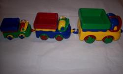 Heavy duty toy train set as pictured Please click on VIEW SELLERS LIST above to see other items Ihave for sale. 250 812 7765