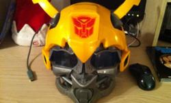 2008 Hasbro Bumblebee Deluxe helmet. Lightly used. No scratches or cracks. Voice synthesizer inside. Talks and says many different phrases. Thanks for looking. Make an offer This ad was posted with the Kijiji Classifieds app.