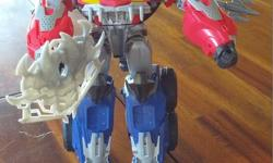 Beasthunters Optimus- in good shape- missing some projectiles