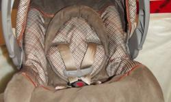 we are selling a Safety First infant carseat and stroller combo for half price of new. it is selling at walmart for $129.99.  bought new and used from march 2011 to sept 2011. like new condition no rips tears or stains.  neutral colours (brown and beige)