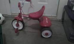 Radio Flyer tricycle About 5 years old but still in excellent condition.