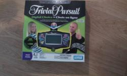 Plastic still on board and never used. It's the electronic trivial pursuit. Given as a gift last year. $20 to buy new - but selling for 15$ OBO. Check out my other ad's for more great items!