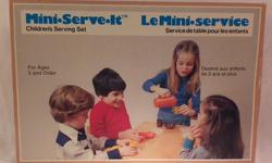 Vintage Children's Serving Set by Tupperware Toys in original box Tupperware Home Parties, a Division and trading style of Dart Industries Canada Limited