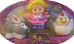 NEW FISHER PRICE LITTLE PEOPLE #1  THIS LITTLE PEOPLE'S BOX INCLUDES LITTLE GIRL, ONE BUNNY AND ONE CHICKEN. #2  THIS LITTLE PEOPLE'S BOX INCLUDES BUS DRIVER, and MAGGIE THE ROAD CONSTRUCTION WORKER and A DOG. NEW IN BOX, NEVER BEEN USED! THIS IS FOR