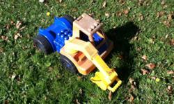 Two outside plastic toys for sale. One excavator truck and one ride on horse. Charlottetown daytime pick-up is available.