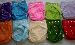 10 NEW Bamboo Pocket Diapers + 10 Bamboo (3 layer) Inserts One size (S,M,L) fits babies 8-35lbs (3-15kg) Bamboo Diaper Design: * Waterproof cover * Inner layer of ultra soft bamboo terry * Highly absorbent 3 layer bamboo insert * Easy to adjust quality