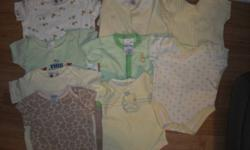 unisex onesies  and sleepers nb-12mth,clean good condition smoke/pet free home,$1 per item