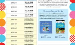 Usborne books is an award winning children's book publisher. We offer home parties, school sales and literacy fairs. Right now we have a summer home party special for every party booked July 15- Aug 15. What double hostess rewards means is, for every