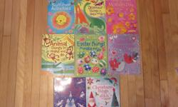 Various Usbourne Activity Books. 5.00 EACH - Brand New. I don't think these are available in stores. The titles are: Summer Activities, Dinosaur Things to Make and Do, Things to Make for Mother's Day, Valentine Things to Make and Do, Easter Things to Make