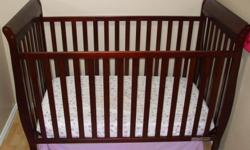 I have for sale a used 2 year old baby crib. See image for colour. Good condition and all parts are available, only 1 small scratch. This crib was sold at Walmart for $180. Asking $75 or best offer, mattress and sheets not included.