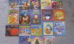 $2 each Garfield's Christmas Tales - SOLD Garfield's Ghost stories Garfield's Haunted House and other spooky tales - SOLD Garfield's Stupid Cupid and other silly stories Garfield's night before Christmas Garfield the Easter bunny - SOLD Garfield's scary