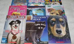 These JUNIOR Chapterbooks are in EXCELLENT condition, with slight wear to the corners of the cover, unless noted otherwise, and are $3 each or buy 4 books for $10.00 **SPECIAL: BUY ALL 9 BOOKS FOR $20.00** THE PUPPY PLACE by Ellen Miles (RL 2) - Muttley