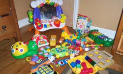 various fisher price baby toys, leapfrog fridge farm musical , little tikes musical toy box and more.. see other ads.