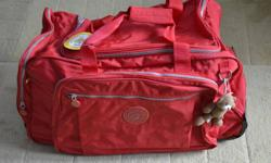 """Various Build-A-Bear Workshop Bags   Most of the bags listed were only available for BABW Managers and they are all new/never used   Red Duffle Bag (plastic bottom w/wheels - many pockets - only 300 made worldwide)(25"""" W x 12"""" H x 12"""" D) - $45.00   Red"""