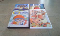Harry and the Bucket full of Dinosaurs Cinderella II (English and French) The Tigger Movie (English and French) Clifford The Big Red Dog Doghouse Adventures Caillou Classics Volume 1-4 sold as a set 8$ (English and French) Bob the Builder X-Treme