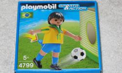 """These PLAYMOBIL Sets from the 2011 Soccer Series are - DISCONTINUED and HARD TO FIND - BRANDNEW in FACTORY SEALED BOX - for Ages 5+ The SOCCER Set are $5.00/each and include: - 1 figurine (2.95"""" tall) - 1 Soccer Ball - 1 Stand - 1 Practice Wall Available"""