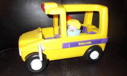 Various toys   1) Shell Core school bus - with two figures 2) Shapes puzzle container  3) Rolling Turtle 4) Play Phone   from a smoke-free home   Asking $1.00 each