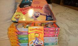 This is a Video Buddy Game system which includes: ---a video buddy remote game control ---12 VHS video tapes (all are in excellent condition, and some have not even been opened.  They are still sealed.